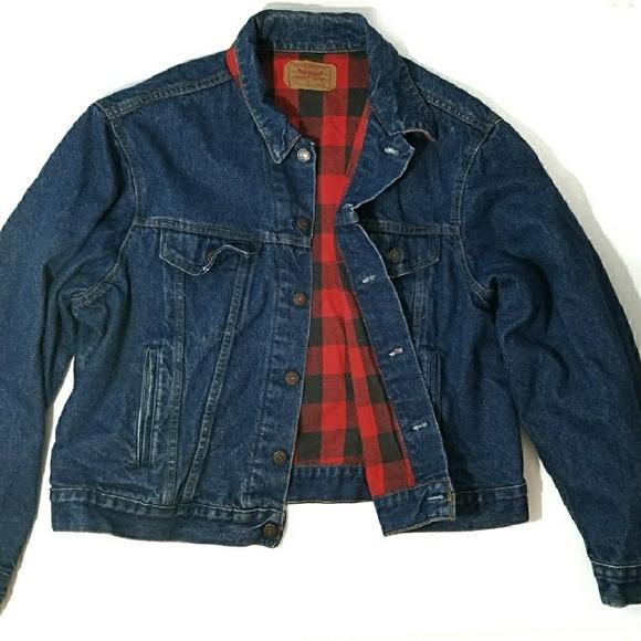 9c5ffc5f Levi's Jackets & Coats | Vintage Levis Buffalo Plaid Jean Trucker ...